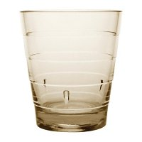 Kristallon Polycarbonate Ringed Tumbler Tan 285ml