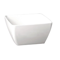 APS Pure Melamine White Square Bowl 190mm