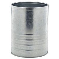 Galvanised Steel Can 11cm Dia x 14.5cm