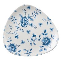 Churchill Vintage Prints Blue Rose Chintz Pattern Triangle Plate 7.75' (12 Per Case)
