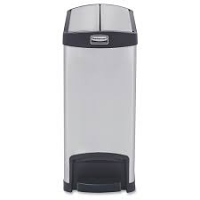Rubbermaid Slim Jim End Step on Stainless Steel 30L