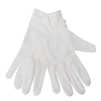 Waiting Gloves Mens White 100% Cotton - Size M-L