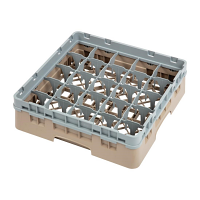 Cambro Camrack 25 Compartment Glass Rack Beige - Max Height 92mm