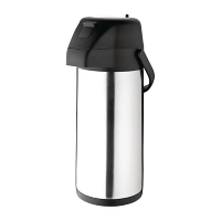 Olympia Pump Action Airpot Stainless Steel Push Button - 3Ltr