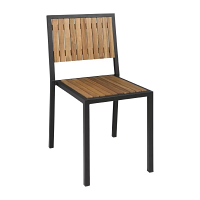 Bolero Steel & Acacia Wood Side Chair