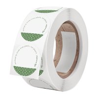 Write-On Compostable Sticker - 45mm (Box 1000)