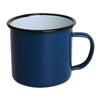 Olympia Enamel Mugs Blue 350ml
