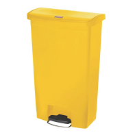 Rubbermaid Slim Jim Step on Bin Front Pedal 68Ltr Yellow