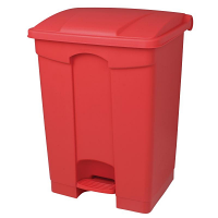 Jantex Kitchen Pedal Bin Red 87Ltr