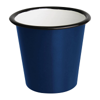 Olympia Enamel Sauce Cup Blue and Black