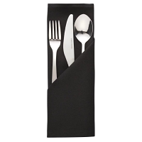 Occasions Polyester Napkins Black