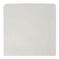 "Compostable Recycled Sandwich Bag White - 254x254mm 10x10"" (Box 1000)"