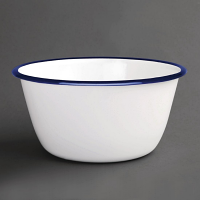 Olympia Enamel Pudding Bowls 155mm