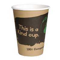 Biodegradable PLA Coffee Cups Single Wall- 12oz (Sleeve 50)