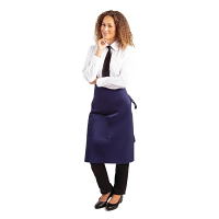 Whites Regular Bistro Apron Navy Blue  - 1000x700mm 39.4x27.5""