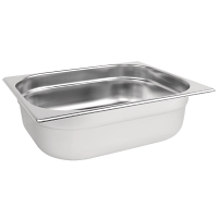 Stainless Steel Gastronorm Pan - 1/2 Size 100mm deep