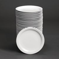 Special Offer - Athena Hotelware Narrow Rimmed Plates 10 in Bulk Buy 36 Pack