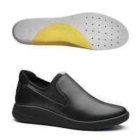 WearerTech Vitalise Slip On Shoe Black with Soft Insoles