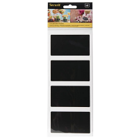 Securit Rectangular Self Adhesive Chalkboard - 85x50mm (Pack 8)