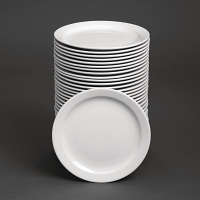 Special Offer - Athena Hotelware Narrow Rimmed Plates 11 in Bulk Buy 36 Pack