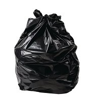 "Jantex Square/Office Bin Liner Black - 15x25x24"" (Pack 500)"