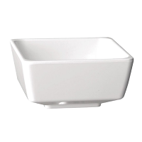 Float Square Bowl Melamine White - 190x190mm