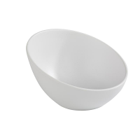 APS Zen Melamine Round Sloped Bowl White 300ml