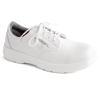 Abeba X-Light Microfiber Lace Up Safety Shoe White