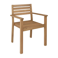 Bolero Eucalyptus Wood Terrace Arm Chair Natural Finish