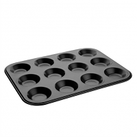 Vogue Non-Stick Mini Muffin Trays 12 Cup. 14MM Deep