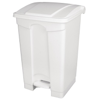 Jantex Kitchen Pedal Bin White 65Ltr