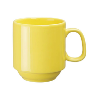 Olympia Heritage Yellow Single Handled Stacking Mug - 10oz (Box 6)