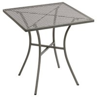 Grey Steel Patterned Square Bistro Table 700mm