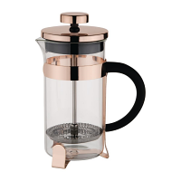 Olympia Copper Contemporary Cafetiere St/St - 3 cup 350ml