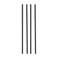 "Biodegradable & Compostable Straws, Black 8"" (500 pp)"