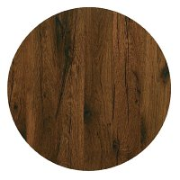 Werzalit Round 600mm Table Top (Antique Oak 316)