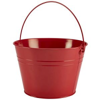 Stainless Steel Serving Bucket 25cm Dia Red
