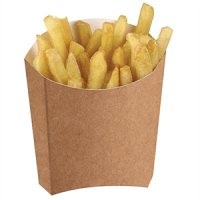 Disposable Kraft Chip Scoops Medium (1000 Per Pack)