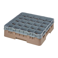 Cambro Camrack Beige 25 Compartments Max Glass Height 114mm