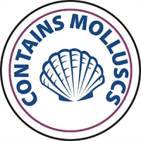 Vogue Food Allergen Label Molluscs (1000pp)