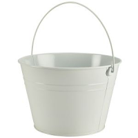 Stainless Steel Serving Bucket 25cm Dia White