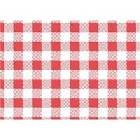 Red Gingham Greaseproof Paper 250x250mm (200pp)