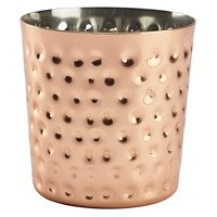 Hammered Copper Plated Serving Cup 8.5 x 8.5cm