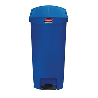 Rubbermaid Slim Step on Side Pedal Bin Blue 68 Ltr