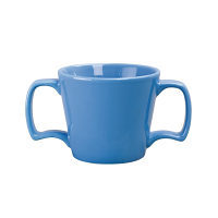 Olympia Heritage Blue Double Handled Mug 10oz 300ml (Box 6)