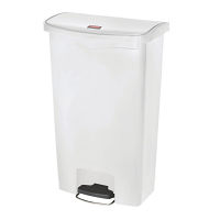 Rubbermaid Slim Jim Step on Bin Front Pedal 68Ltr White