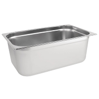 Stainless Steel Gastronorm Pan - 1/1 Full Size 200mm deep