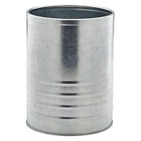 Galvanised Steel Can 11cm Ø x 14.5cm