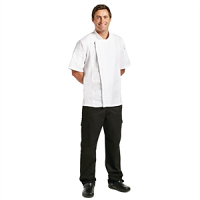 Chef Works Springfield Zipper Mens Chefs Jacket White