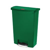 Rubbermaid Slim Jim Step on Bin Front Pedal 90Ltr Green